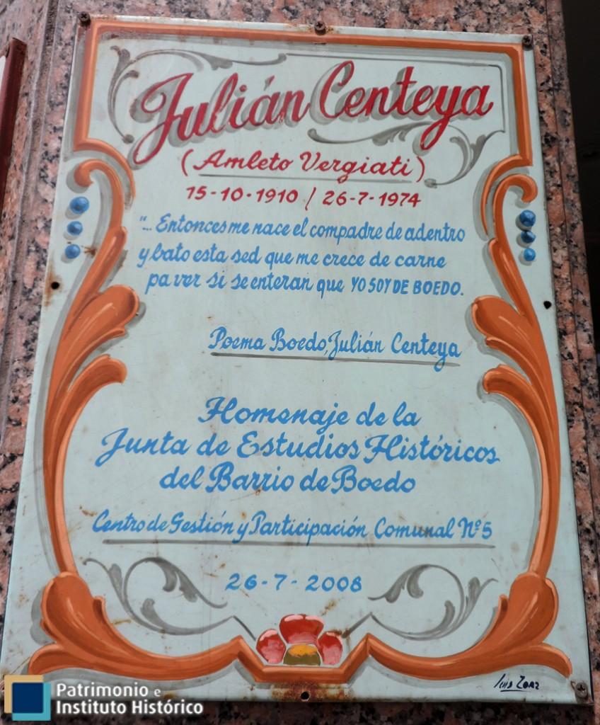 BOEDO NO OLVIDA – JULIAN CENTEYA