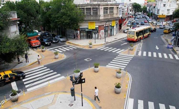 Esquinas modificadas un avance vial en la Ciudad