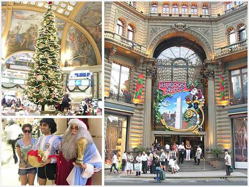 Árboles de navidad decoran las vidrieras porteñas