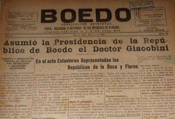 Cuando Boedo fue una República