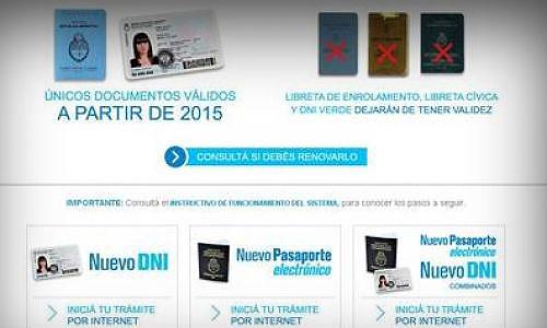 Ahora, el Pasaporte, por Internet