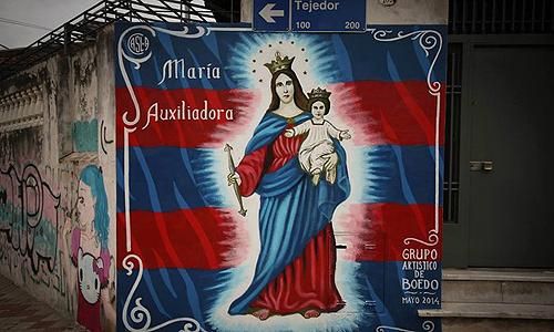 María Auxiliadora: nuevo mural en el barrio