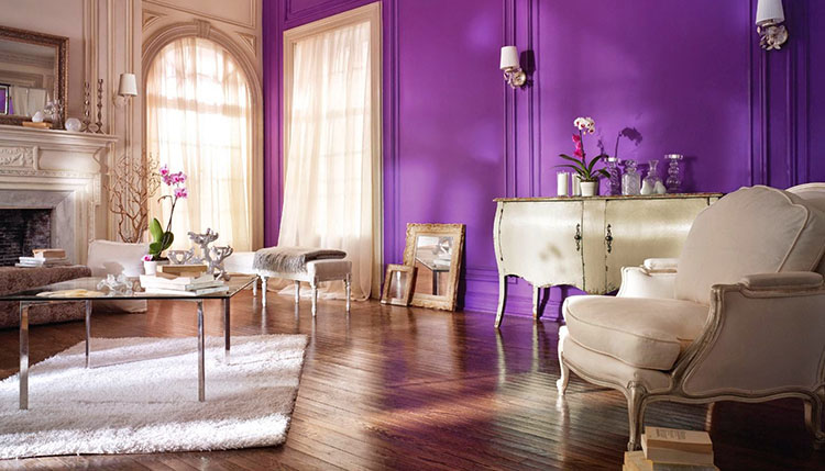Diseña tu dormitorio con las gamas del azul y  del violeta