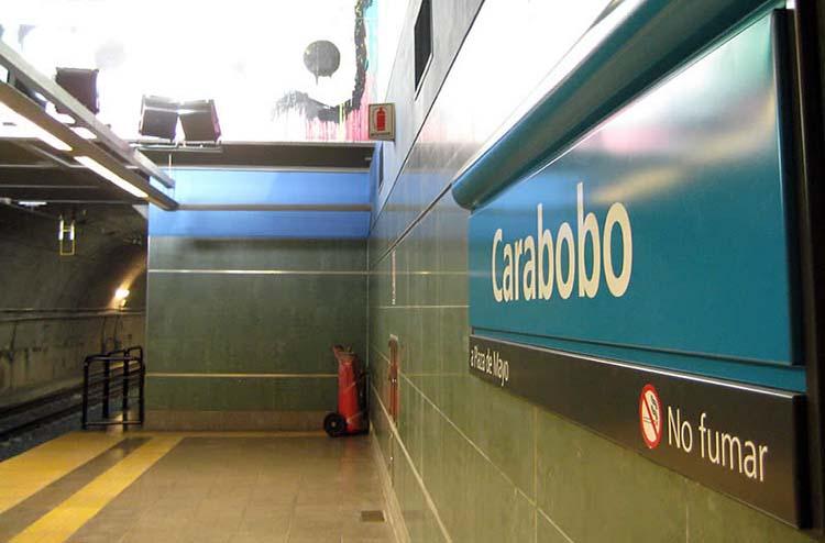 Intento de robo y tiroteo en la estación Carabobo
