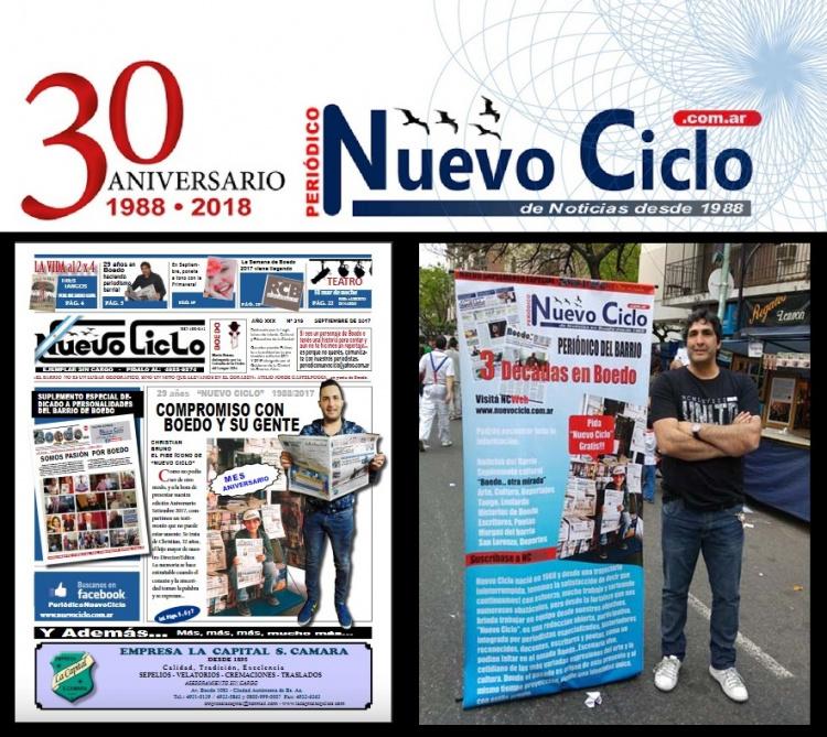 """EL PERIÓDICO BARRIAL """"NUEVO CICLO"""" CUMPLE 30 AÑOS"""