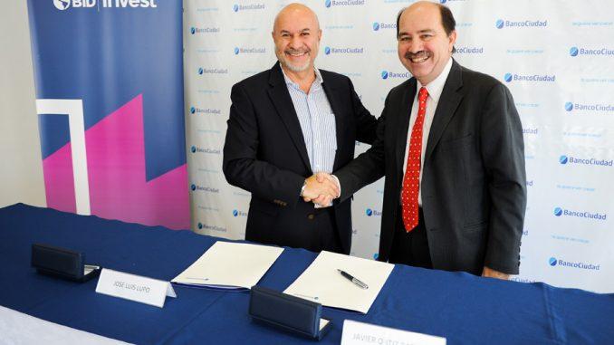 Acuerdo con Banco Ciudad y Bid Invest