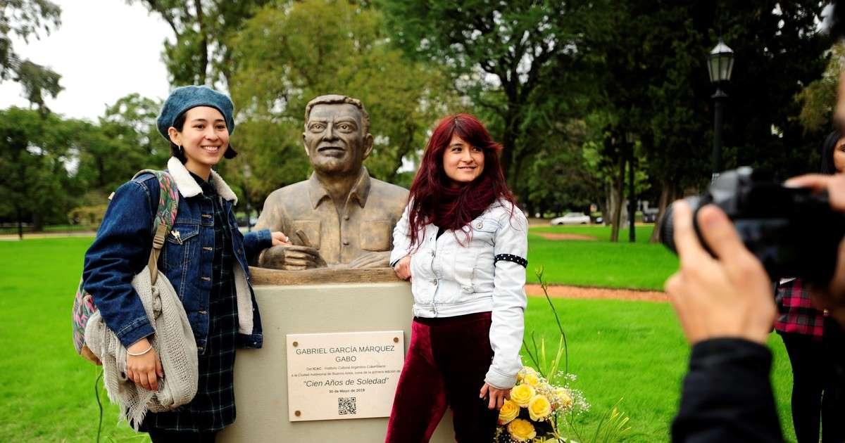 Homenaje a Gabriel García Márquez en la Ciudad  de Buenos Aires.