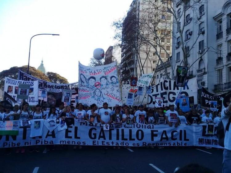 """Marcha contra el """"gatillo fácil"""""""