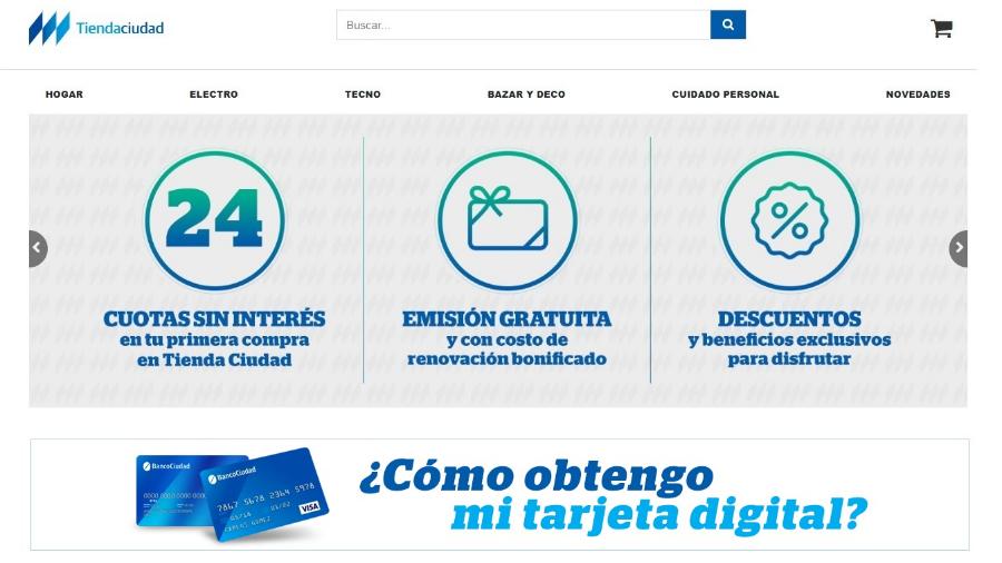 El Banco Ciudad suma promociones a su nueva plataforma de E-Commerce