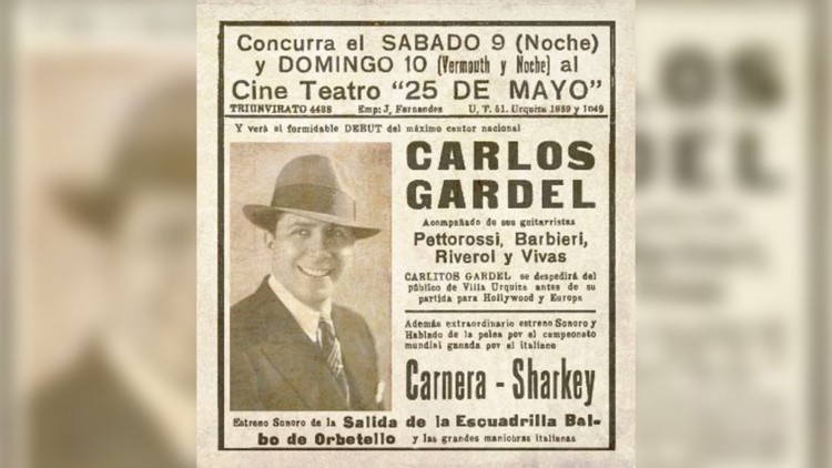 Roberto Carnaghi homenajea a Carlos Gardel y a su última función en Buenos Aires