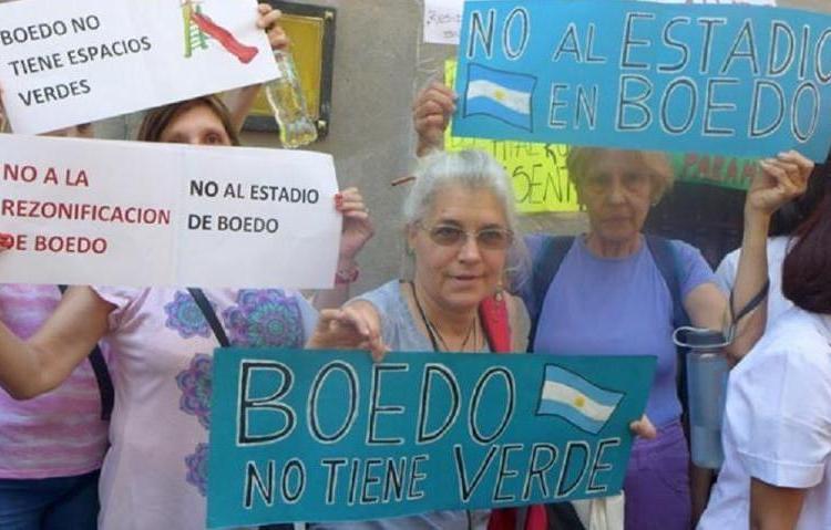 Vecinos de Boedo en contra de la construcción de un estadio