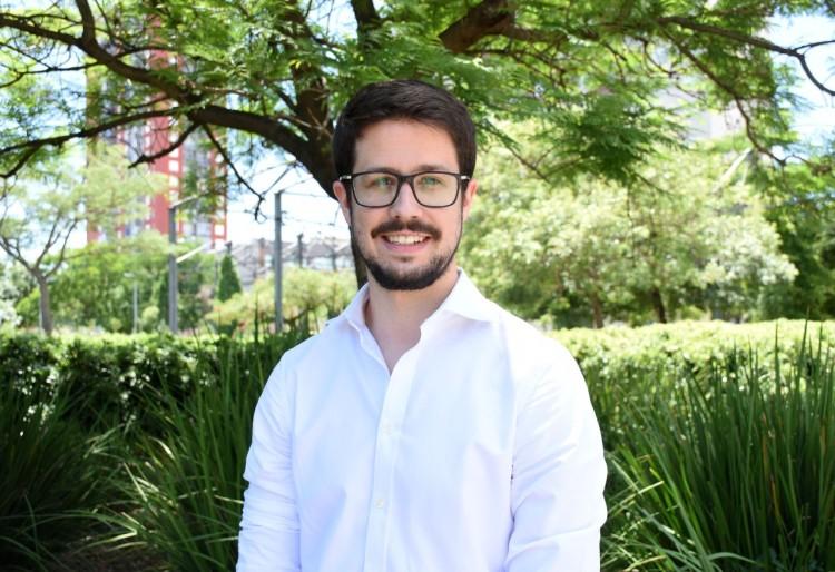 """Sebastián Perdomo, Presidente de la Comuna 5: """"El desafío de los próximos cuatro años son los espacios públicos, el tránsito y la seguridad""""."""