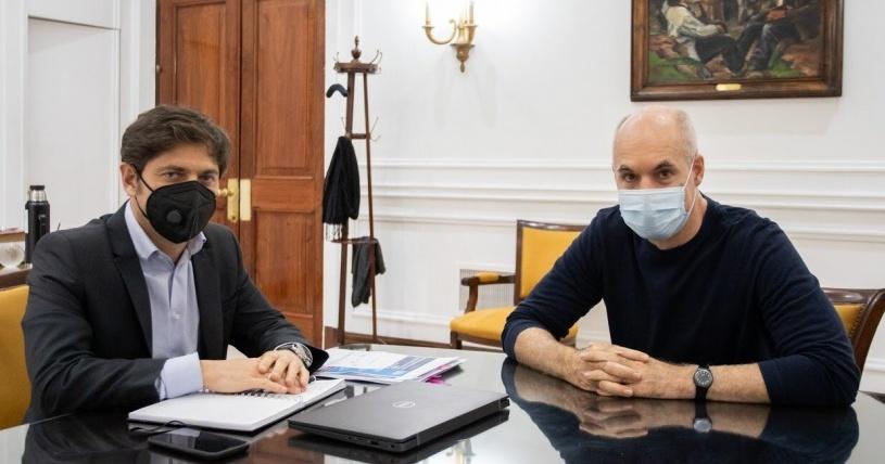 Larreta – Kicillof: reunión clave para decidir cómo continua la cuarentena en el AMBA