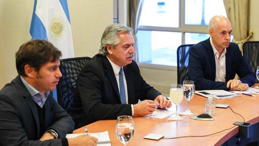 Fernández, Larreta y Kicillof: reunión para definir cómo sigue la cuarentena