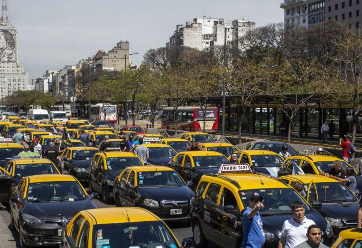 Reclamo de taxistas en CABA